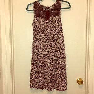Purple leopard print baby doll dress